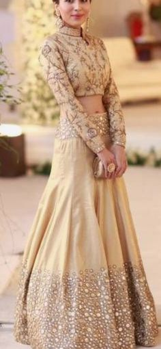 Here's our pick of the best sangeet outfits for the Indian bride of Pakistani Dresses, Indian Dresses, Indian Outfits, Red Lehenga, Lehenga Choli, Sarees, Sabyasachi Lehengas, Lehenga Style, Bridal Lehenga