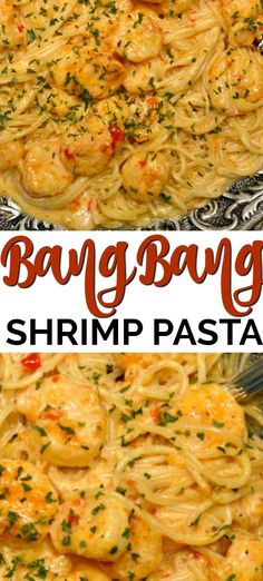 This Bang Bang Shrimp Pasta has the most scrumptious creamy sauce that is ready in about 20 minutes. This recipe is truly one of the best shrimp recipes ever! Recipes dinner Bang Bang Shrimp and Pasta Best Shrimp Recipes, Seafood Pasta Recipes, Shrimp Recipes For Dinner, Shrimp Dishes, Fish Recipes, Pasta Food, Sheimp Pasta, Recipes With Cooked Shrimp, Healthy Shrimp Pasta