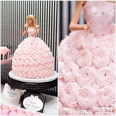 Glamour Girl party with a Barbie doll cake- birthday? Barbie Birthday Cake, Barbie Party, Girl Birthday, Birthday Cakes, Barbie Theme, Disney Birthday, Happy Birthday, Beautiful Cakes, Amazing Cakes