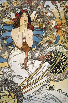French poster | Art Nouveau | Affiche publicitario                                           such a beautiful composition.