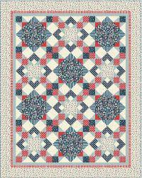 Ahoy quilt pattern by Heidi Pridemore for Andover Fabrics, using Ahoy fabric collection by The Henley Studio