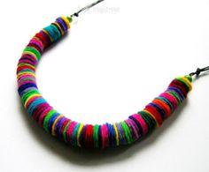 Kolorowy naszyjnik, filc /Felt, colourful necklace - Asia-majstruje - Naszyjniki z filcu