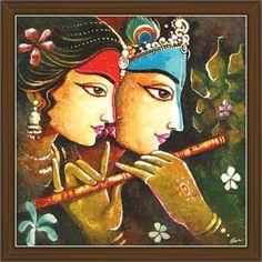 Indian Art Paintings, Modern Art Paintings, Landscape Paintings, Ganesha Painting, Madhubani Painting, 3d Art Drawing, Modern Canvas Art, Madhubani Art, Figure Painting