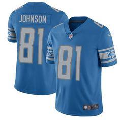 Nike Lions  81 Calvin Johnson Blue Team Color Men s Stitched NFL Vapor  Untouchable Limited Jersey accfef630