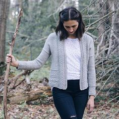 Gretel, designed by Pam Allen and one of four new knits from Glen, the first of our design team's Fall collections for 2016. Shown here in Lark Iceland. More from designers Dianna Walla and Melissa LaBarre through the link in our profile. #quinceandco #quincegretel