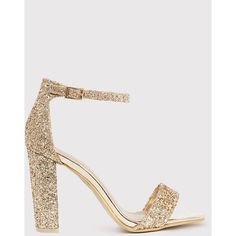 May Gold Glitter Block Heeled Sandals (1.080 RUB) ❤ liked on Polyvore featuring shoes, sandals, yellow, sparkly sandals, block-heel sandals, yellow shoes, yellow heeled sandals and block heel shoes