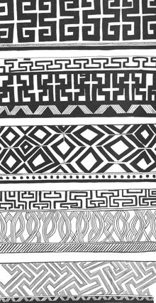 [2] - Estudo de Grafismos e Padrões Pintura Tribal, Arte Tribal, Tribal Art, Pattern Library, Pattern Art, Abstract Pattern, Body Art Tattoos, Tribal Tattoos, Tatoos