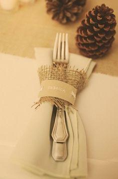 burlap, table settings, cowboy boots, idea, fall weddings, napkin, tabl set, diy wedding, wedding place setting