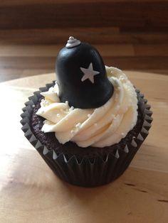 Police hat cupcake