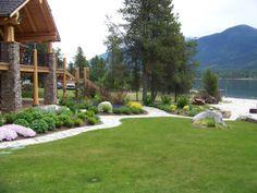 log homes landscaping front entrance pictures Log Home Front