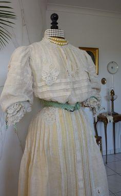 Linnen Day Dress, ca. 1904