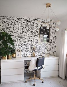 Trendy home office inspiration ideas work stations Home Office Design, Home Office Decor, Home Decor, Interior Room Decoration, Interior Design, Interior Ideas, Interior Modern, Ikea Furniture Hacks, Farmhouse Side Table