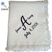Embroiderd Blanket Throw Personalized Wedding Gift Anniversary Cotton Keepsake On Etsy 59 99 Gifts Ideas Pinterest