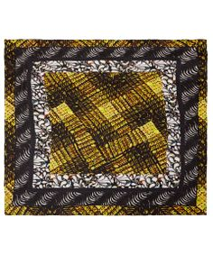 Yellow graphic print silk scarf from Peter Pilotto