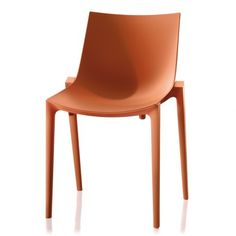 Zartan is a plastic stacking chair design by Philippe Starck and Eugeni Quitllet for Magis. Suitable for outdoor use it comes in a large range of colours. Buy at Utility today - Original Design. Orange Outdoor Furniture, Modern Furniture, Furniture Design, Philippe Starck, Contemporary Dining Chairs, Scandinavian Living, Loft Spaces, Nordic Design, Home Textile