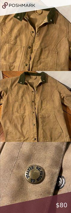NWT Authentic Womens Filson Field Parka Waxed Cotton Olive Jacket Size M MEDIUM