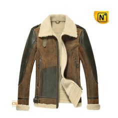 Sheepskin Bomber Jacket/ Sheepskin Flying Jacket/ by cwmallsshop