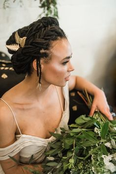Photo of These Beautiful Bridal Hairstyles Will Make Your Wedding Day Even More Gorgeous Dreadlock Wedding Hairstyles, Natural Wedding Hairstyles, Natural Hair Updo, Dreadlock Hairstyles, Natural Hair Styles, Black Brides Hairstyles, Bride Hairstyles, Pretty Hairstyles, Dreadlock Styles