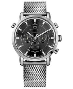 Tommy Hilfiger Watch, Men's Stainless Steel Mesh Bracelet 44mm 1790877 - Men's Watches - Jewelry & Watches - Macy's