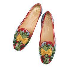 Pack your bags for a Roman holiday with the Mamma Mia Slipper. This delicious embroidered flat will have the locals calling out, 'Ciao bella!' Charlotte Olympia™ | Official Site