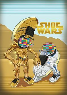 Adidas Series : ShoeWars by Chern Cloak, via Behance