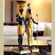 Pas cher Égyptienne artisanat résine statuette décoratifs pour la maison ornements égyptienne dieu de la guerre et cléopâtre figurines artisanat, Acheter  Resin Crafts de qualité directement des fournisseurs de Chine:    Taille: cléopâtre 29.5 cm * 7.5 cm * 5.5 cm         Pharaon égyptien 30.3 cm * 9 cm * 8.5 cm