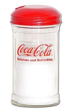 Tablecraft 12 Ounce Glass Coca Cola Sugar Shaker-got this Vintage Coca Cola, Retro Vintage, Coca Cola Decor, Coca Cola Kitchen, Cocoa Cola, Coca Cola Christmas, Always Coca Cola, World Of Coca Cola, Mini Fridge