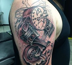 Dirt Bike Piston Tattoos