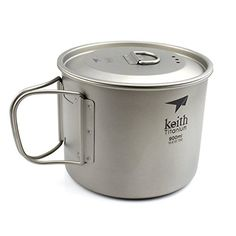 Keith 900ml Ultralight Titanium Pot With Foldable Handle Outdoor Picnic Camping Hiking Backpacking Cookware * You can find out more details at the link of the image.