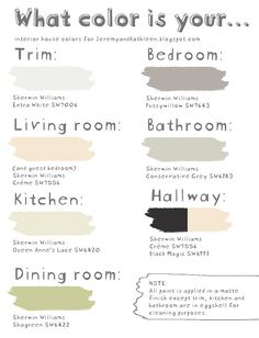 sweet paint chart easy way to remember exactly what color you painted your house in case you have to fix something.