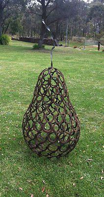Horse Shoe Pear Garden Sculpture
