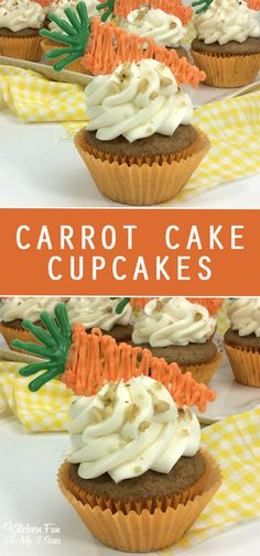 Easter Carrot Cupcakes recipe for Easter. #Easter #cupcakes