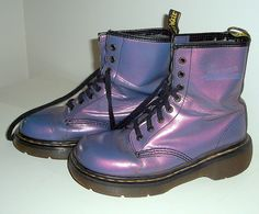 Purple Iridescent Doc Martens (UK8)  i want to get another pair of these so bad. my old pair is full of holes.
