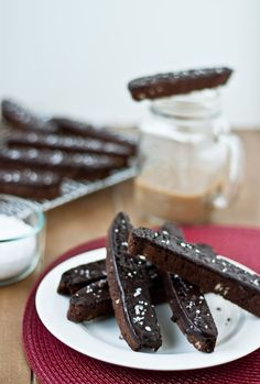 Double Chocolate Biscotti with Sea Salt