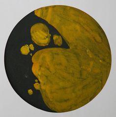 Lubomir Blecha, design for decorative glass disk, 1956, aquarelle on paper, D: 31,6 cm, UMPRUM Prague First Contact, Fascinator, Glass Art, Africa, Tropical, Bohemian, Artist, Painting, Inspiration