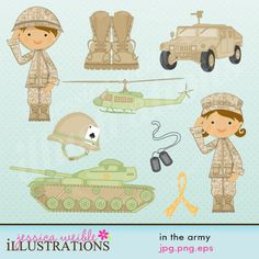 In the Army by JW Illustrations 3.00