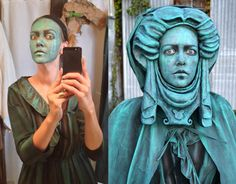 noraseeart: It's that time of year and my maiden tumblr post! Process/after shot of my 2014 Madame Leota Living Statue Costume. Working on this year's costume now.