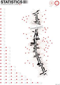 Jamie Fox---Information Graphics; Bricklane London E1 A collection of information and statistics; visually presenting data collected from Bricklane, and the journey in between destinations.: