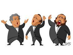 Three Tenors caricature