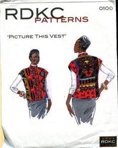 2003 RDKC Pattern 0100 Picture this Vest All Sizes