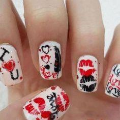 Más uñas decoradas para Día de San Valentín