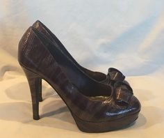 Dollhouse Pumps 7 Purple Stiletto Heels Snakeskin Texture #Dollhouse #Stilettos #SpecialOccasion