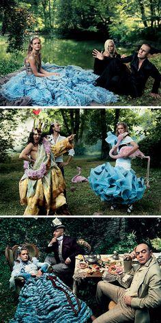 """Alice in Wonderland """"Something Blue"""" photoshoot"""