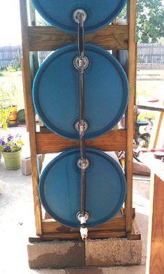 DIY Simple 3 Drum Rain Collection System