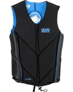 Liquid Force Watson Comp Life Vest in Black / Blue ----- #wakesurf #wakesurfing #liquidforce #wakeboard #wakeboarding #lifevest