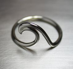 Wave Ring, Silver Wave Ring, Surfer Ring on Etsy, $26.00