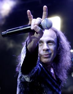 Ronnie James Dio, inventor of the devil horns. Rock On, sir, rock on.