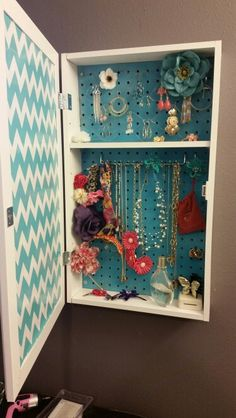 Nice Unused Medicine Cabinet Turned Into Jewelry Box. | For The Home | Pinterest  | Medicine Cabinets, Box And Jewelry Cabinet