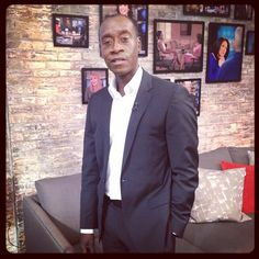 The talented House of Lies' star Don Cheadle in our greenroom