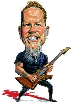 James Hetfield caricature